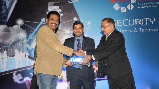 Vishal Salvi, CISO, HDFC Bank Limited, Sunil Sharma, VP Sales & Operations, India & SAARC, Cyberoam, Hemal Patel, CEO Cyberoam Technologies & SVP Sophos.