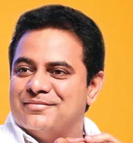 KT Rama Rao Telangana Minister for IT and Panchayat Raj