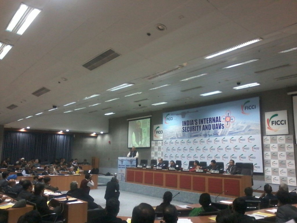 FICCI Summit on India's Internal Security and UAVs in progress in New Delhi on Dec 14, 2015.