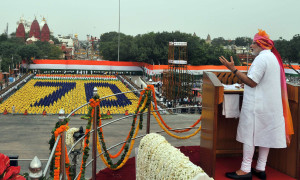The Prime Minister, Shri Narendra Modi addressing the Nation on the occasion of 70th Independence Day from the ramparts of Red Fort, in Delhi on August 15, 2016.