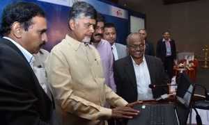 AP Chief Minister Nara Chandrababu Naidu and his team at the recent conference on Digital Disruption & Innovation:Navigating the Nextgen Revolution