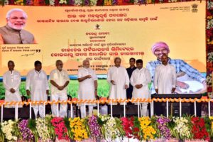 PM inagurates projects in Odisha
