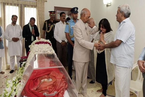 Sushma Swaraj Cremation