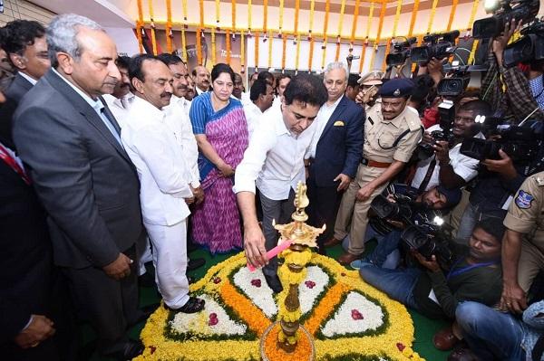 Tech Mahindra and Cyient Development Centres inaugurated by KT Rama Rao at Warangal