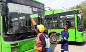 Delhi Government disinfects public vehicles to prevent COVID-19 spread