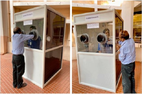 SCTIMST develops disinfected barrier-examination booth for examining COVID-19 patients