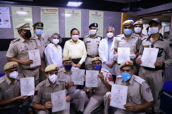 Dr Harsh Vardhan flags off Plasma Donation Campaign at AIIMS, Delhi