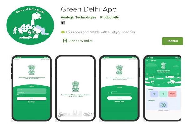 Green Delhi mobile app