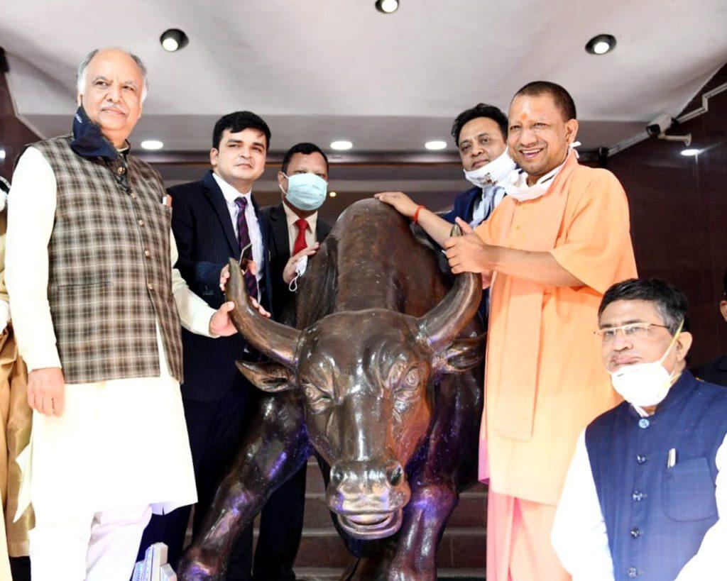 Yogi Adityanath launches Lucknow Municipal Corporation bond at BSE