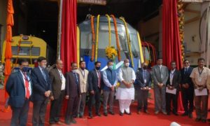 Defence Minister Rajnath Singh unveils India's First Indigenously Designed & Developed Driverless Metro Car