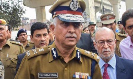 Delhi Police Commissioner SN Srivastava