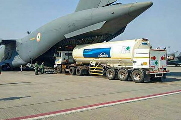 Indian Air Force airlifts oxygen