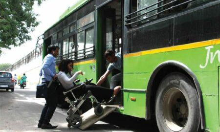 Disabled-friendly public transport